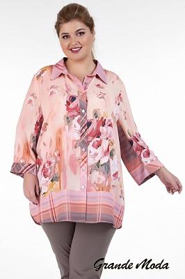498410ad586 Блузки больших размеров в интернет магазине Grandemoda.ru