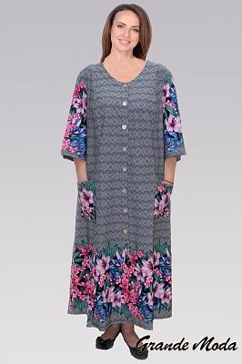b002fce74ac Женский халат большого размера в интернет магазине Grandemoda